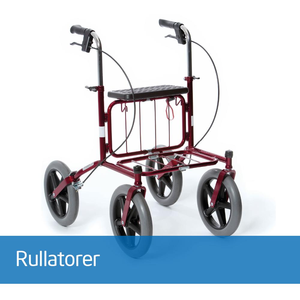 Våre rullatorer fra Human Care er godt kjent i markedet som solide og stabile gåhjelpemidler. Velkjente Rebel og Carl-Oskar rullatorer kan også leveres som gåbord eller gåstol. Våre rullatorer har alle et godt utvalg av tilbehør.